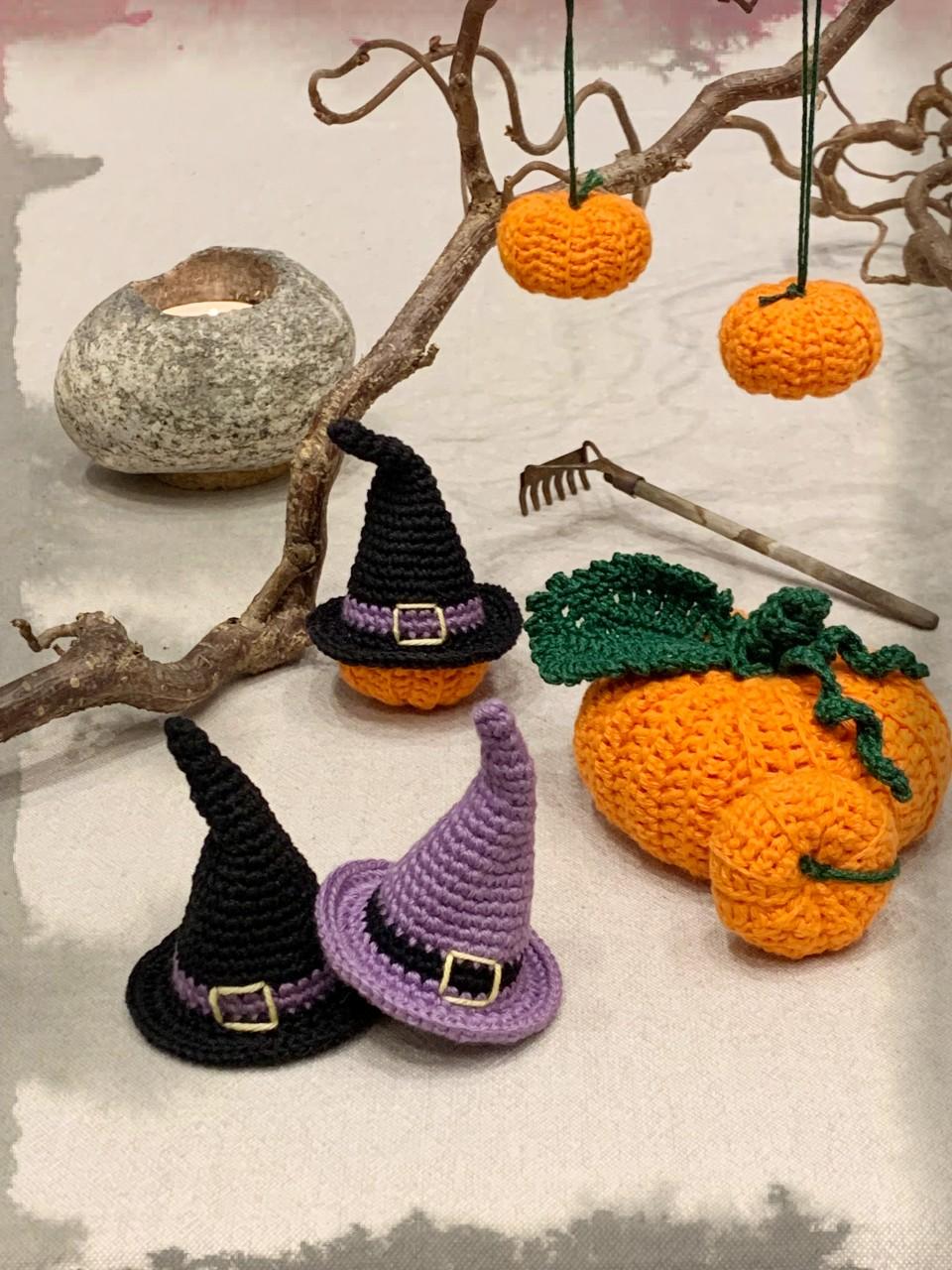 Mönster ellenkantarellens virkade Halloweenkit