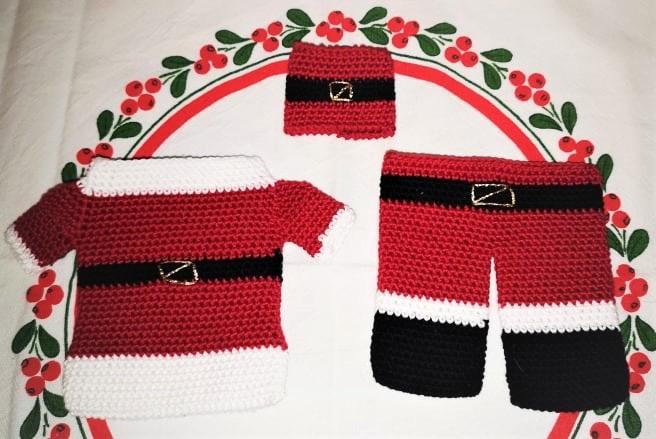 Mönster på bestick- & servetthållare till jul